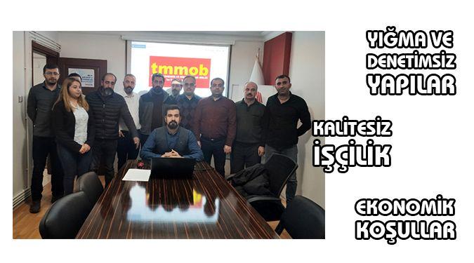 TMMOB DİYOR Kİ ARTIK DERS ALALIM!