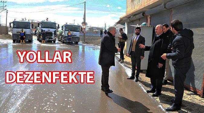 YOLLAR DEZENFEKTE EDİLDİ